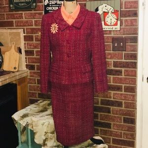 TALBOTS Skirt Suit—Two-Piece Wool Tweed